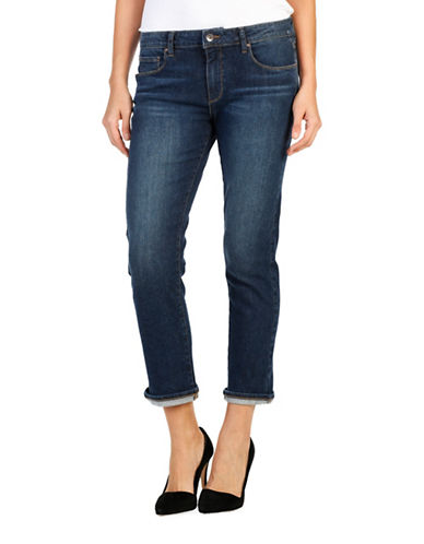 Paige Brigitte Brookdale Slim Boyfriend Jeans-BLUE-27