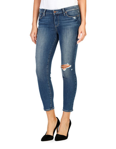Paige Verdugo Crop - Ramona Destructed Jeans-BLUE-30