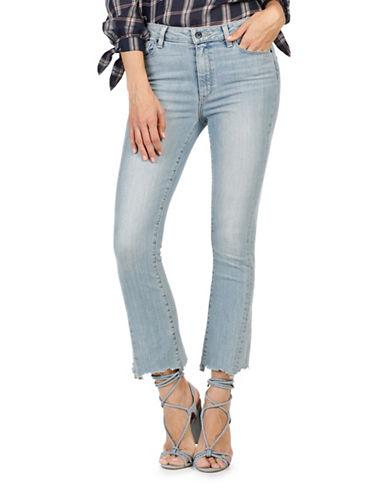 Paige Colette Crop Flare Twist Seam Jeans-BLUE-28