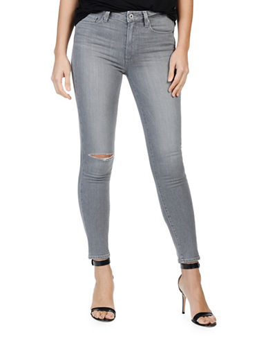 Paige Hoxton Destructed Ankle Jeans-GREY-30