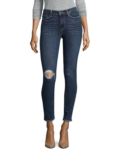 Paige Ultra Skinny Distressed Jeans-BLUE-25