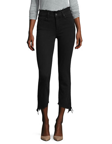Paige Julia Frayed Cropped Jeans-BLACK-30