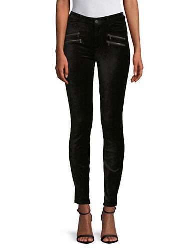 Paige High-Rise Velvet Edgement Jeans-BLACK-29