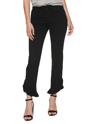 Paige Hoxton High-Rise Straight Ankle Jeans-BLACK-24