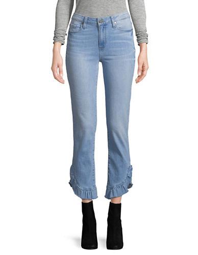Paige Jacqueline Straight Raw Hem Jeans-BLUE-25