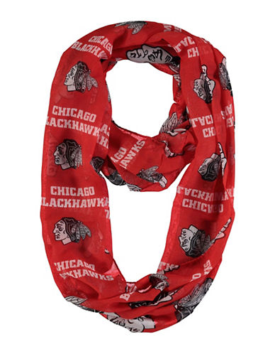 Forever Collectibles Chicago Blackhawks Infinity Scarf-RED-One Size