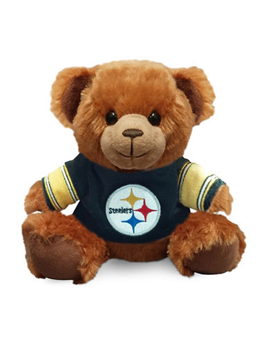 Forever Collectibles NFL Pittsburgh Steelers Jersey Sweater Bear-BLACK-One Size