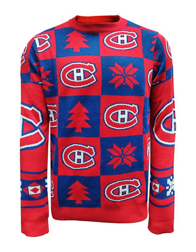 Klew Montreal Canadiens Ugly Patchwork Sweater-ASSORTED-Medium