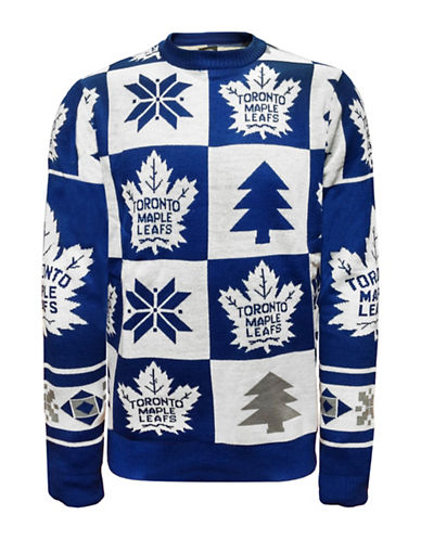 Klew Toronto Maple Leafs Ugly Patchwork Sweater-ASSORTED-Small