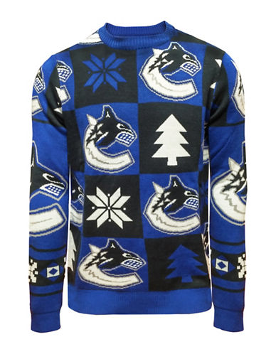 Klew Vancouver Canucks Patchwork Sweater-ASSORTED-Medium
