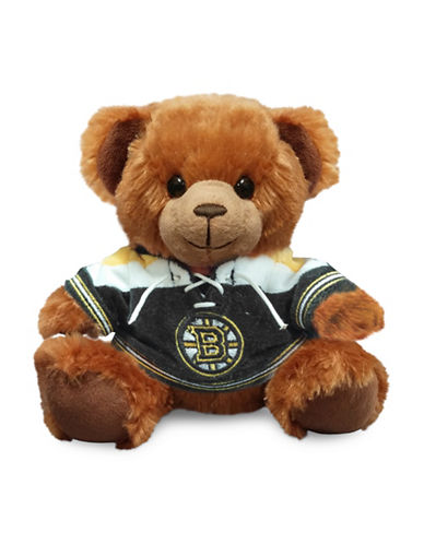Forever Collectibles Boston Bruins Jersey Sweater Bear Toy-BLACK-One Size