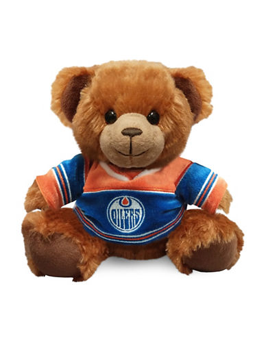 Forever Collectibles NHL Edmonton Oilers Jersey Sweater Bear-BLUE-One Size
