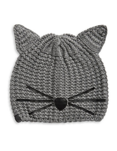 Karl Lagerfeld Paris Choupette Tuque-GREY-One Size