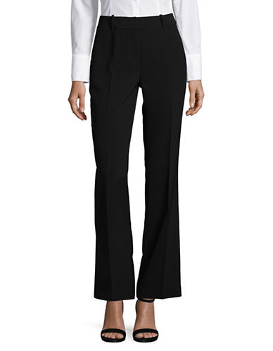Karl Lagerfeld Paris Essential Solid Pants-BLACK-10