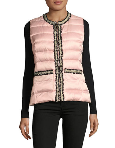 Miscellaneous Quilted Puffer Vest-PINK-Medium