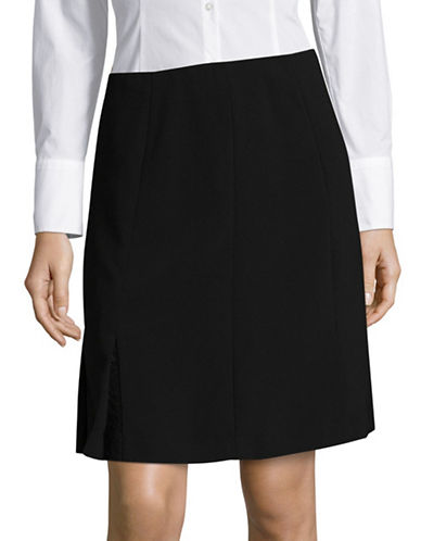 Karl Lagerfeld Paris Floral-Lace Godet A-Line Skirt-BLACK-10
