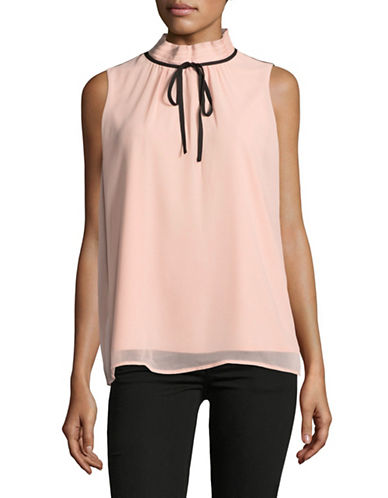 Miscellaneous High Neck Blouse-PINK-X-Large