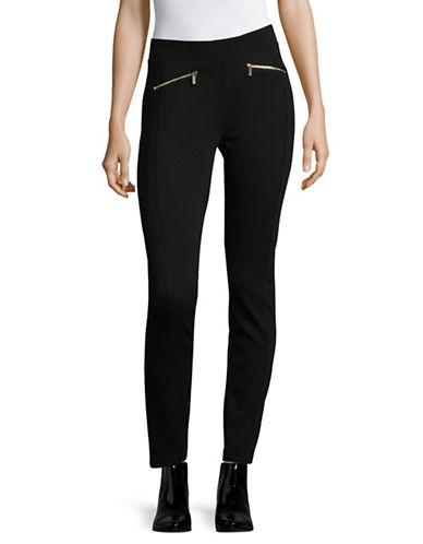 Karl Lagerfeld Paris Twill Compression Pants-BLACK-Small 89613614_BLACK_Small