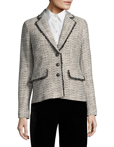 Karl Lagerfeld Paris Hushed Violet Tweed Suit Jacket-VIOLET-12