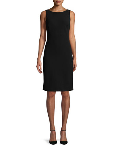 Karl Lagerfeld Paris Sleeveless Cowl Back Dress-BLACK-4