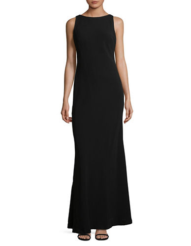 Karl Lagerfeld Paris Sleeveless Shift Cowl-Back Gown-BLACK-12