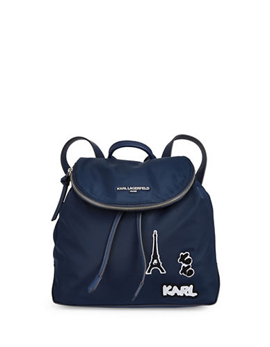 Karl Lagerfeld Paris Cara Backpack-NAVY-One Size