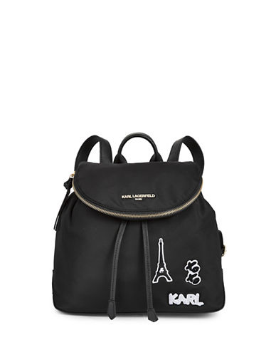 Karl Lagerfeld Paris Cara Backpack-BLACK-One Size