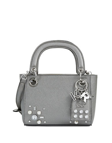 Karl Lagerfeld Paris Adele Lace Tote Bag-GREY-One Size