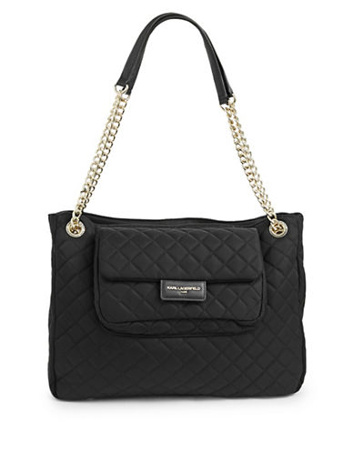 Karl Lagerfeld Paris Solange Tote-BLACK-One Size 89624950_BLACK_One Size