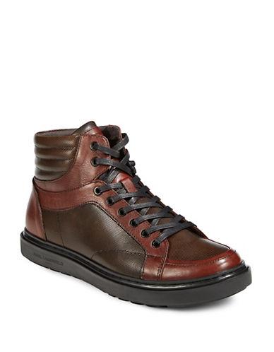 Karl Lagerfeld High Top Sneakers-BROWN-8.5