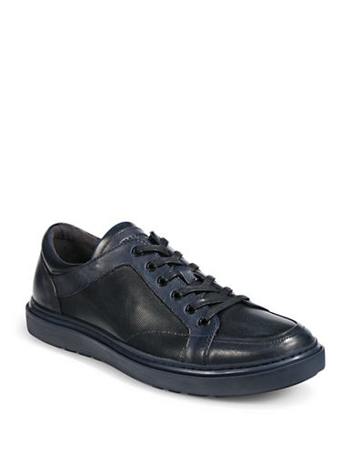 Karl Lagerfeld Leather And Lace Sneaker-BLUE-9.5