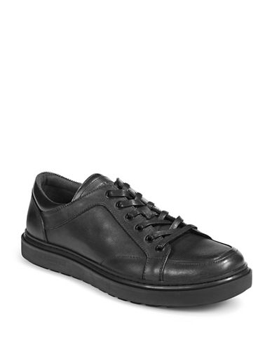Karl Lagerfeld Leather And Lace Sneaker-DARK GREY-8.5
