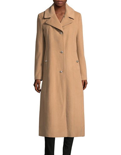 Karl Lagerfeld Paris Lux Long Coat-LIGHT CAMEL-Large