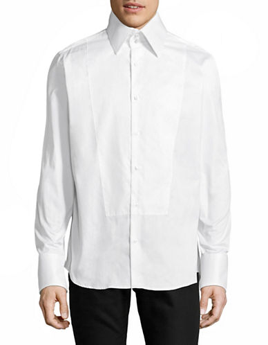 Karl Lagerfeld Signature Collar Shirt-WHITE-X-Large