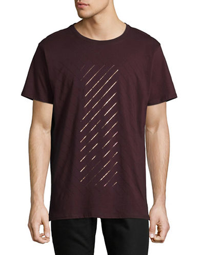 Karl Lagerfeld Geometric Graphic T-Shirt-OX BLOOD-X-Large