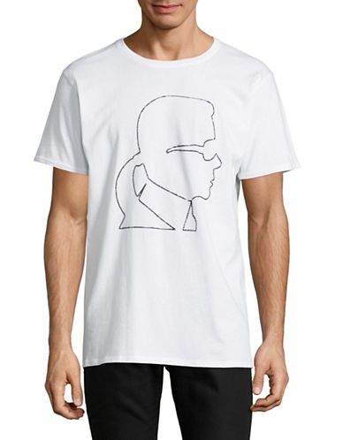 Karl Lagerfeld Karl Head Graphic Sweatshirt-WHITE-Large
