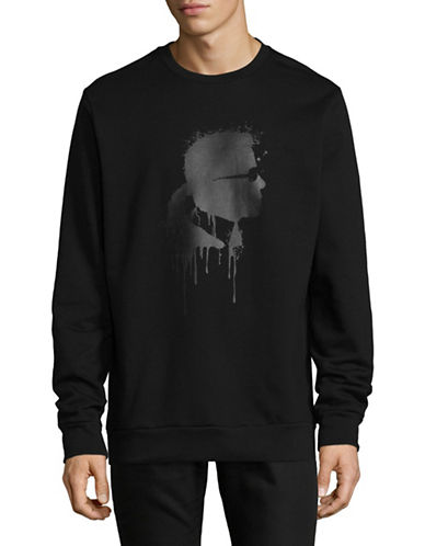 Karl Lagerfeld Karl Head Sweatshirt-BLACK-Medium