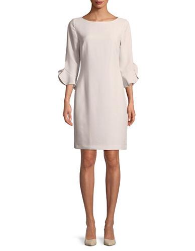 Karl Lagerfeld Paris Tulip Cuff Dress-PINK-12