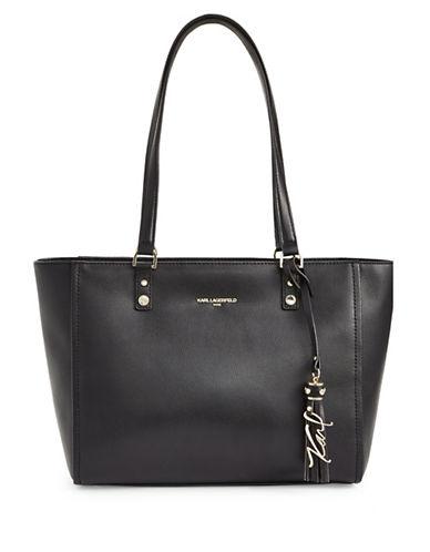 Karl Lagerfeld Paris Elise Tote Bag-BLACK-One Size