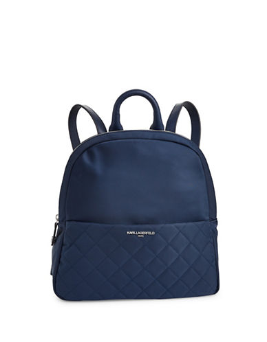 Karl Lagerfeld Paris Solange Backpack-BLUE-One Size
