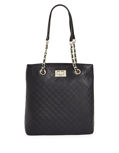 Karl Lagerfeld Paris Quilted Tote Bag-BLACK-One Size