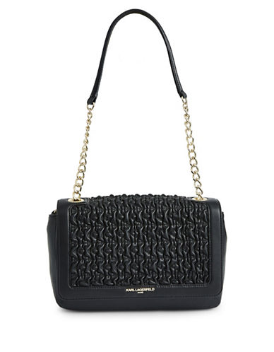 Karl Lagerfeld Paris Charlotte Shoulder Bag-BLACK-One Size