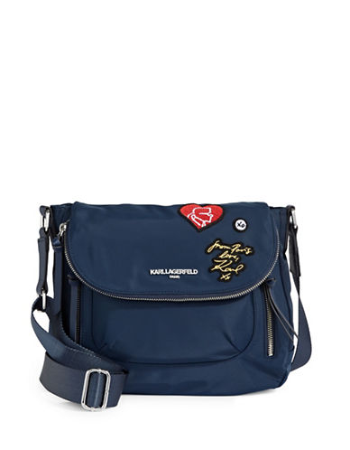 Karl Lagerfeld Paris Cara Crossbody Bag-NAVY-One Size