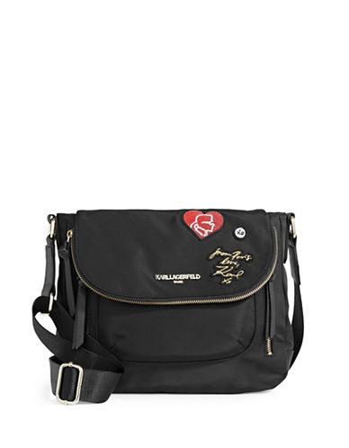 Karl Lagerfeld Paris Cara Crossbody Bag-BLACK-One Size