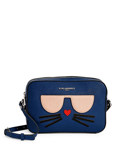 Karl Lagerfeld Paris Choupette Crossbody-COBALT-One Size