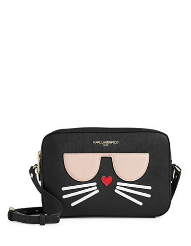 Karl Lagerfeld Paris Choupette Crossbody-BLACK-One Size