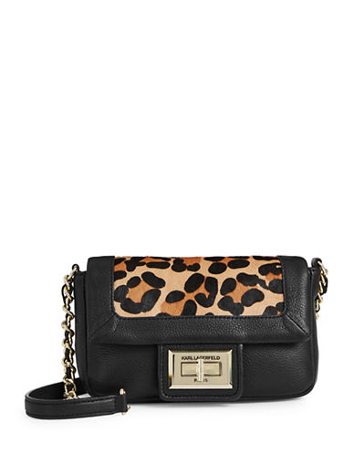 Karl Lagerfeld Paris Agnyess Leopard Crossbody Bag-LEOPARD-One Size