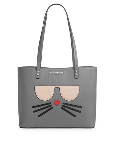Karl Lagerfeld Paris Maybelle Saffiano Tote-ASPHALT-One Size