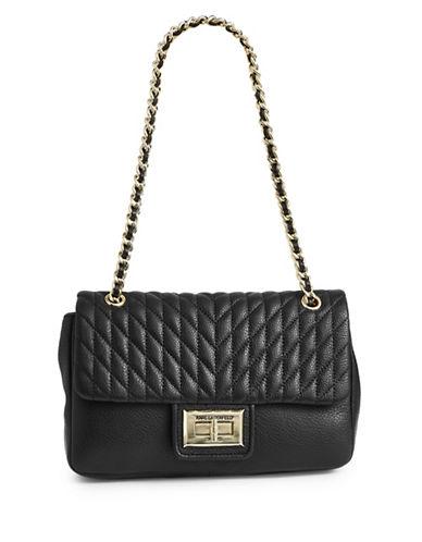 Karl Lagerfeld Paris Agnyness Crossbody Bag-BLACK-One Size