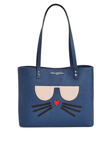Karl Lagerfeld Paris Maybelle Saffiano Tote-COBALT-One Size